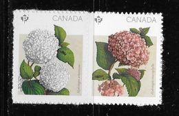 CANADA  2016, #2899-900,  FLOWERS: HYDRANGEAS,  Pair  Mnh VALLEY Upper Left - Blocs-feuillets