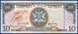 TRINIDAD & TOBAGO 10 DOLLARS P-57a SIGNATURE: Jwala Rambarran BIRD COCRICO ORTALIS RUFICAUDA CENTRAL BANK SHIP 2006 UNC - Trinidad & Tobago