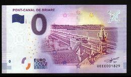 France - Billet Touristique 0 Euro 2018 N° 1829 (UEEE001829/5000) - PONT-CANAL DE BRIARE - EURO