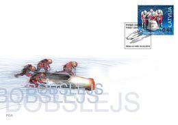 Latvia.2018.Bobsleigh.XXIII Olympic Winter Games.PyeongChang.FDC. - Winter (Varia)