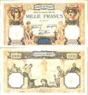 FRANCE - 1000 Fr (Cérès Et Mercure) 2/11/1939 - F 38 / 38 (P 90c) TTB (VF) - 1871-1952 Circulated During XXth