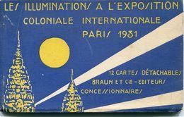 75 - Paris  : Les Illuminations à L' Exposition De 1931 - Carnet De 12 Cartes - Exposiciones