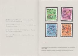 SUIISE - POCHETTE 4 TIMBRES PRO JUVENTUTE 1988 - MNH** - JOUR D'EMISSION 24.11.1988  /1 - Zwitserland