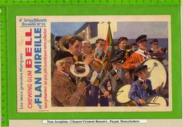 BUVARD : Flan Mireille Le Defilé De Musique Batterie Saxo  Clarinette  4e Serie N°55 - Lebensmittel