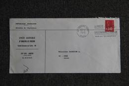 Lettre De FRANCE (Lycée Agricole D'ANGERS LE FRESNES ) - N° 1666 - Marcophilie (Lettres)