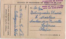 Cartolina Prigionieri Guerra South Africa-> Salerno  Viaggiata 2/1946 - 1900-44 Vittorio Emanuele III