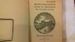 Chanoine BRUYERE.MONOGRAPHIE CIVILE ET RELIGIEUSE DE VILLIEU-LOYES.(AIN)1930 (col1e) - Rhône-Alpes