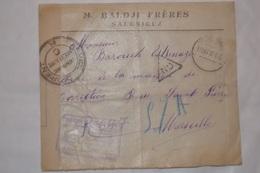 ARMÉE D;ORIENT 1916 . LETTRE ADRESSÉE MAISON DE CORRECTION DE MARSEILLE.CACHETS .  TIMBRES ; CENSURE - Greece