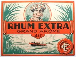 RHUM  Extra Grand Arôme - étiquette Ancienne  -  Bateau                 . /E218 - Altri