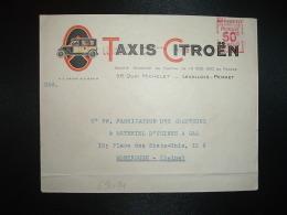 LETTRE EMA B 0155 à 50c Du 1 MAI 29 LEVALLOIS PERRET (92) TAXIS CITROEN (TRES RARE) - Marcophilie (Lettres)