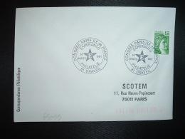 LETTRE TP SABINE 1,20 ROULETTE OBL.14 MARS 1981 91 DRAVEIL ESPERANTO PHILATELIE CONGRES PARIS ILE DE FRANCE - Esperanto