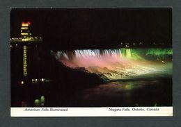 Canadá. ON - Niagara Falls. *American Falls Illuminated* Nueva. - Cataratas Del Niágara
