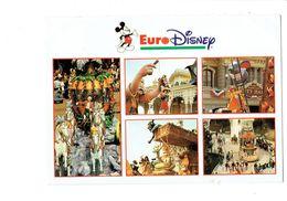 Cpm - EURO DISNEY Disneyland Parade 1993 MICKEY Pinocchio Jumbo éléphant Carrosse De Cendrillon Chevaux Manège Serpent - Disneyland