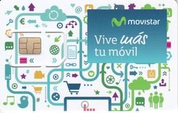 GSMT-248 TARJETA GSM-SIM DE MOVISTAR  -CONTRATO- VIVE MAS TU MOVIL   (NUEVA-MINT) - Espagne