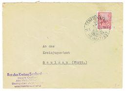 DDR Brief Mit Mi.Nr.455 Stempel Senftenberg (24.5.56) Nach Saulgau(Sonderstempel Heimatfest) - DDR