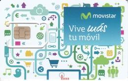 GSMT-244 TARJETA GSM-SIM DE MOVISTAR  -CONTRATO- VIVE MAS TU MOVIL   (NUEVA-MINT) - Espagne