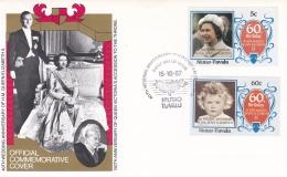 Niutao-Tuvalu FDC 1987 40th Wedding Anniversary Queen Elizabeth II    (DD16-31) - Royalties, Royals