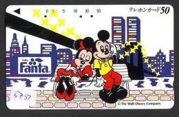 Télécarte Japon / 110-011 - DISNEY- Mickey & Minnie (5751) FANTA  Japan Phonecard Telefonkarte - Disney