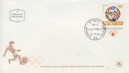 Enveloppe  FDC  1er  Jour   ISRAEL   Tournoi   Pré Olympique  De  Football  1968 - Estate 1968: Messico