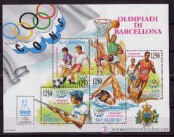 SAN MARINO 1992 - JUEGOS OLIMPICOS DE BARCELONA 92 - YVERT BF 18 - MICHEL BLOCK 15 - SCOTT SS1266 - Verano 1992: Barcelona