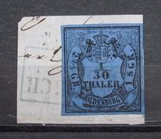 Oldenburg 1 S.Gr. 1852 Mi.Nr.2 Gestempelt Auf Brief Stück     (K127) - Oldenburg