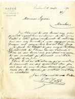 TOULOUSE  SATGE  TAILLEUR   -  LETTRE COMMERCIALE 1891 POUR MONCLAR - Textile & Vestimentaire