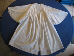 43 - Chemise En Coton Fin Ou Lin Monogrammé MS - Vintage Clothes & Linen