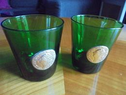 Ancien - Petit Lot De 2 Verres à Vin Cuit Publicité BYRRH Années 70 - Alcohols