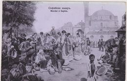 Cpa,1912,bulgarie,le Marché à Sofia,capitale Et Plus Grande Ville Du Pays,rare,métier ,vendeur,vendeuse - Bulgarie