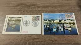 FRANCE CEF Enveloppe + Carte Maximum 1er Jour MUSEE DU BATEAU DOUARNENEZ 1988 - Collection Timbre Poste - FDC