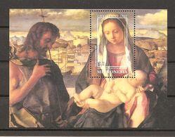 MICRONESIA - 2002 GIOVANNI BELLINI Sacra Conversazione Giovanelli  (Gallerie Accademia, Venezia) Foglietto Nuovo** MNH - Religione