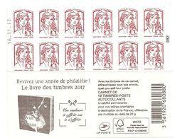 RARE CARNET CIAPPA SANS 20g LE LIVRE DES TIMBRES 2017 DATE 16/11/17 EN HAUT PHOSPHO A CHEVAL - Carnets