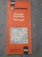 MICHELIN N° 990 : ESPAGNE- PORTUGAL - Echelle De 1/1000000  -  Avril 1977 - Roadmaps