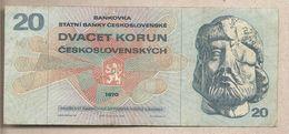 Cecoslovacchia - Banconota Circolata Da 20 Corone P-92 - 1970 - Tchécoslovaquie