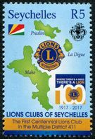 SEYCHELLES  2017 - Cent Du Lions Club Seychelles - 1 Val Neuf // Mnh - Seychellen (1976-...)
