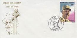 Enveloppe  FDC  1er  Jour    GABON    GENERAL  DE   GAULLE     1980 - De Gaulle (Général)