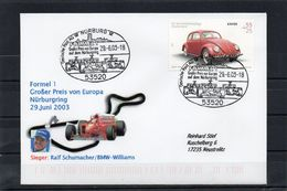 Deutschland, 2003, Brief (echt Gelaufen) Mit Michel 2292 Und Sonderstempel, Großer Preis Von Europa/Nürburgring - Brieven En Documenten