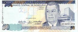 Honduras P.94a  50  Lempiras 2004 Unc - Honduras