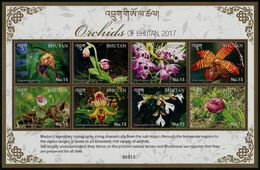 BHUTAN 2017 - Flore, Orchidées Du Bhoutan - BF 8 Val Neufs // Mnh - Bhoutan