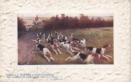 POSTAL DE CAZA CON PERROS Y CABALLOS (CAZADOR-CAN-HORSE) (E. WARBURTON) - Caza