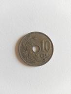 10 Centimes Münze Belgien 1928 (sehr Schön) - 1909-1934: Albert I