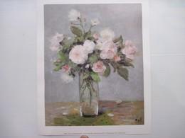Reproduction Tableau Les Roses De Jacqueline Collection Particulière 30 X 24 Cm édition Braun 1990  T.B.E. - Other Collections