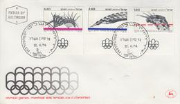 Enveloppe 1er  Jour   ISRAEL    Jeux  Olympiques  MONTREAL   1976 - FDC