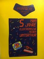 5698 - Thurgauer Iseliberger Blauburgunder(Pinot Noir) 1987 Suisse Pour 5 Ans Elektoische Medien Winterthur TV Winti - Etiquettes