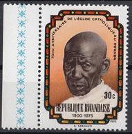 Rwanda 1976 Sc. 732  Abdon Sabakati - Uno Dei Primi Convertiti  - Nuovo MNH - 50th Chiesa Cattolica Romana - Rwanda