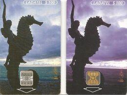 2-CARTE-PUCE-MEXIQUE-OB2-SC7-100 $-1998-HIPPOCAMPE-TURISMO-TBE - Mexique