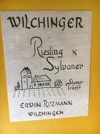 5704 - Wilchinger Reiesling X Sylvaner Erwin Ritzmann Suisse - Etiquettes