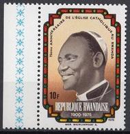 Rwanda 1976 Sc. 735 Msgr. Bigirumwaml - Primo Vescovo - Nuovo MNH - 50th Chiesa Cattolica Romana - Rwanda