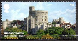 GREAT BRITAIN 2017 Windsor Castle: 1st Class NVI The Round Tower - Usati