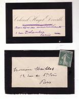 Carte De Visite Autographe Non Signée Du Colonel Pierre Hugot-Derville Au Peintre André Maillos - Autographes